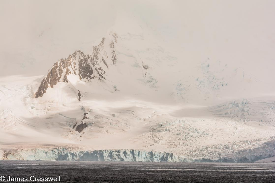 A photograph of a glacier on Livingston Island, South Shetland Islands, Antarctica, taken on a PolarWorld Travel expedition cruise